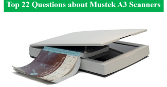 Mustek A3 Scanner Scanning a Thick Book